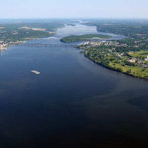 Susquehanna River provides the Chesapeake Bay with half of its freshwater flow. (Photo courtesy of B. Longstaff, IAN).