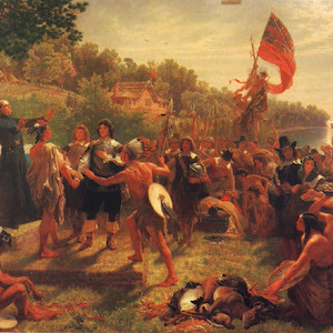 The founding of Maryland, 1634. Painted by Emmanuel Leutze in 1860. (Photo courtesy of Wikimedia Commons).