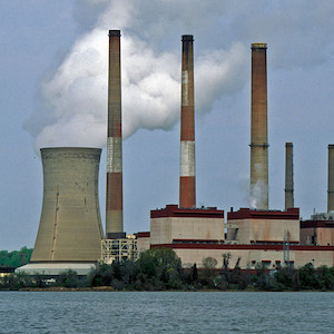 Coal plants, like the one seen in this photo, continue to move forward to reduce the amount of air emissions released. (Photo courtesy of A. Jones, IAN).